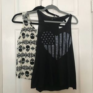 Tops - Black and White Tank Top Bundle